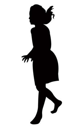 a girl silhouette vector Illustration