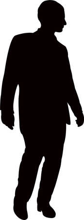 a man body silhouette vector Illustration