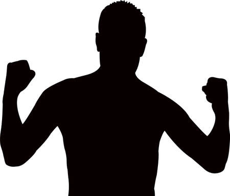 a man, body builder silhouette vector