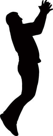 a jumping man body silhouette vector