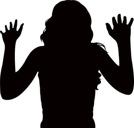 a lady body blush color silhouette vector Ilustração