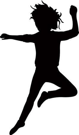 a kid body silhouette vector