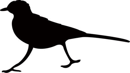 a small bird body silhouette vector  イラスト・ベクター素材