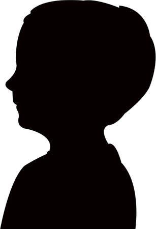 a boy head silhouette vector  イラスト・ベクター素材