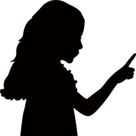 a kid head silhouette vector