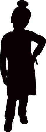 a girl body sihouette vector