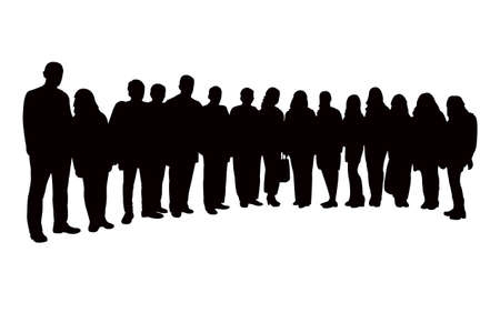 all friends together, silhouette vector
