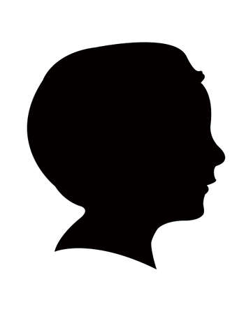A boy head silhouette vector Vector Illustratie