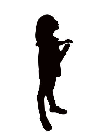 a girl body silhouette vector