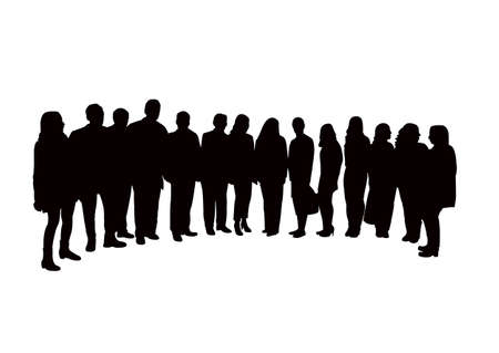 people together, silhouette vector