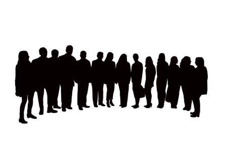 Menschen zusammen, Silhouette Vektor