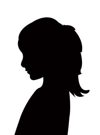 a girl head silhouette vector Ilustracje wektorowe