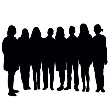 women together, silhouette vector Vecteurs