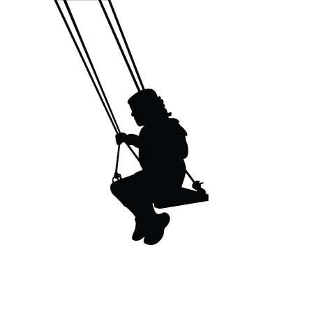 a girl swinging body silhouette vector Ilustracje wektorowe