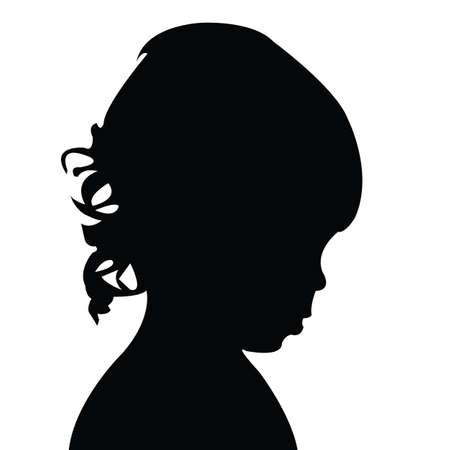 a girl head silhouette vector Vectores