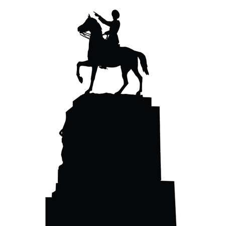 mustafa kemal ataturk statue, silhouette vector