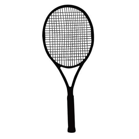 a tennis racket silhouette vector Ilustración de vector