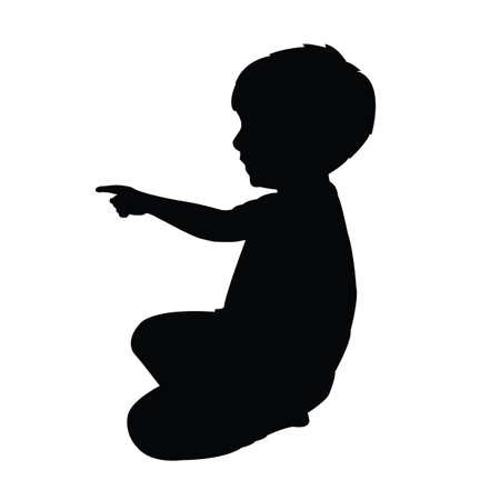 a child body silhouette vector Illustration