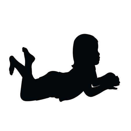 a child body silhouette vector Vettoriali