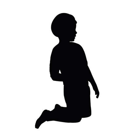 a child body silhouette vector Illustration