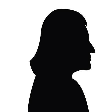 a woman head silhouette vector