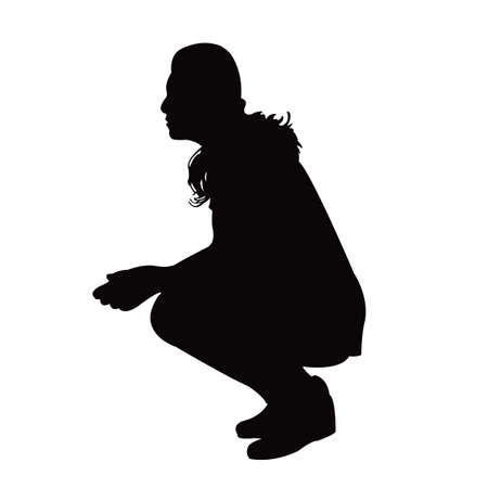 a woman body silhouette vector