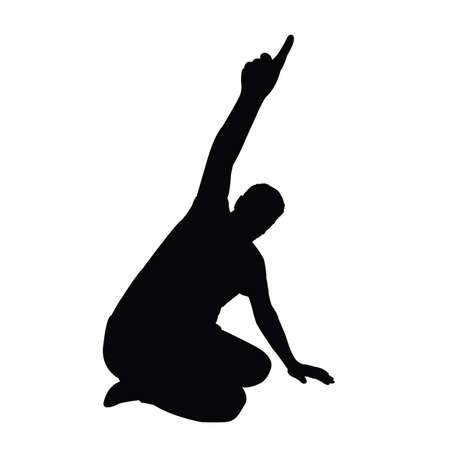 a man body slhouette vector Banque d'images - 150421404