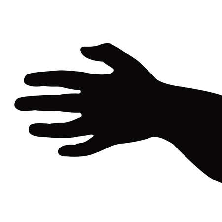 a hand silhouette vector Vettoriali