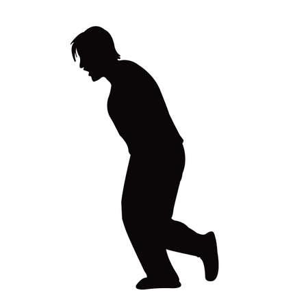 a woman body silhouette vector