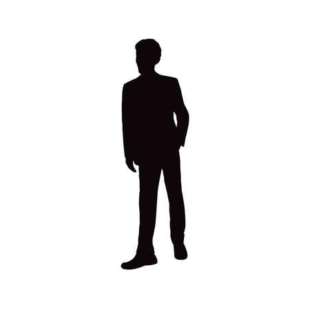 a man body silhouette vector Vettoriali