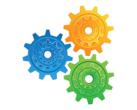 mechanical energy: Gear_Full Colour Illustration
