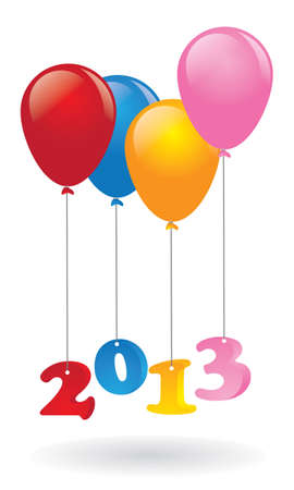 Ballon new year Illustration