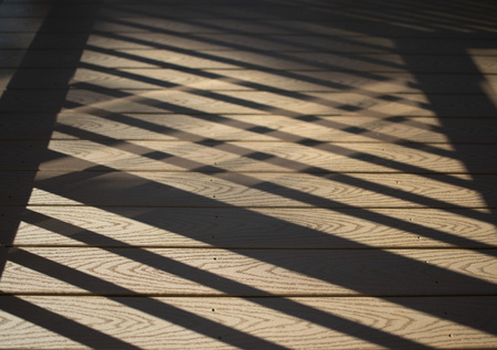 Criss-Cross Porch Shadows