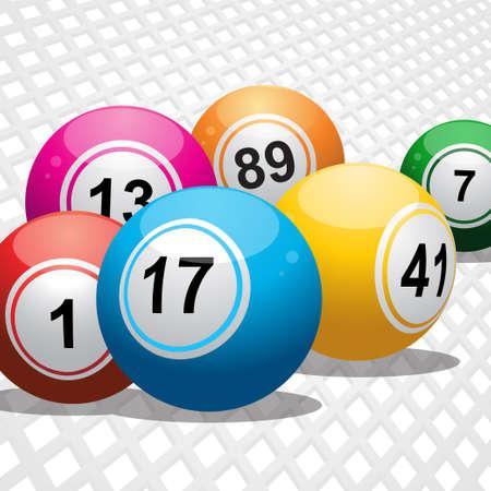 bingo: Bolas del bingo en un fondo blanco 3D Vectores