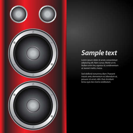 sample text: Invite for Music Party with Big Speakers and Sample Text