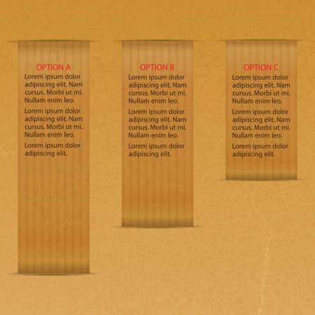 brown paper: Infographic with Three Options on Brown Paper
