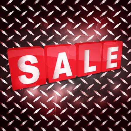 tabs: Red Sale Tabs Over a Black Metallic Diamond Plaque Illustration