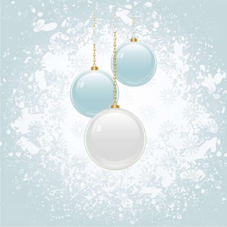 holiday celebrations: Christmas Blue Grunge Background with White and Blue Baubles