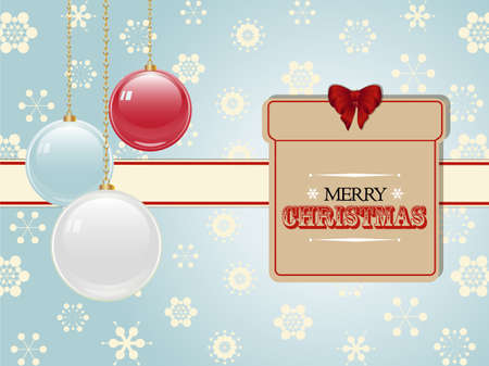 christmas present: Christmas Present Label and Baubles Background