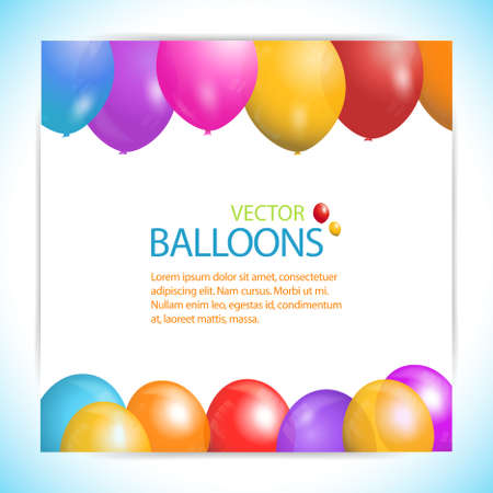 vector sample: Balloon Vector Panel Background with Sample Text Illustration