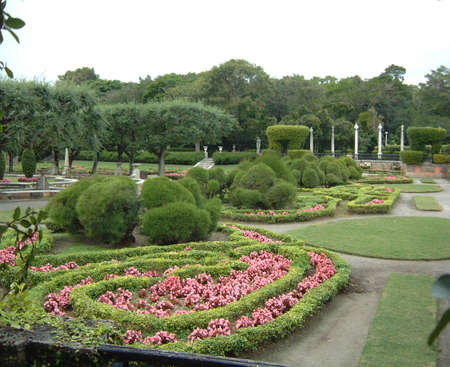 key biscayne: Viscaya gardens, Key Biscayne Stock Photo