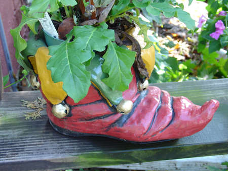 planter: Boot Planter Stock Photo