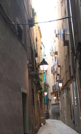 the ramblas: Barcelona side street Stock Photo