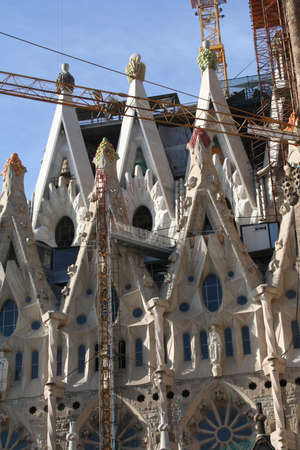 Barcelona, Sagrada Familia church Editorial
