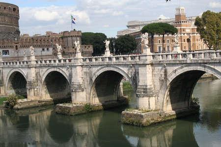 tiber: Rome, italy, Tiber River Stock Photo
