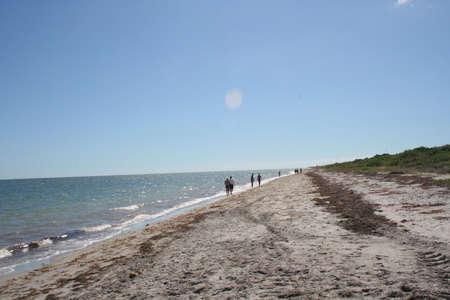 key biscayne: beach, Key Biscayne, Florida Stock Photo