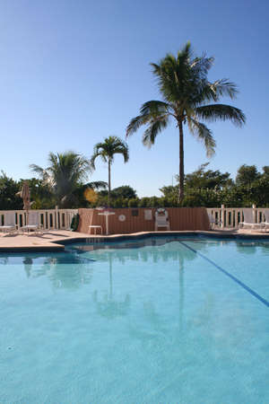 key biscayne: pool, Key Biscayne, Florida Stock Photo