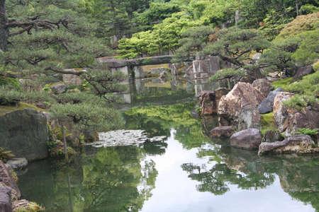 nijo: Japan, Kyoto, Nijo Castle Gardens Stock Photo