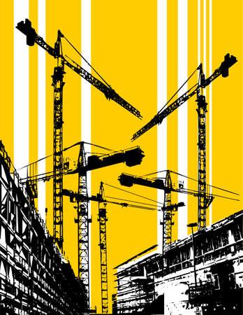 Les travaux de construction du site  Banque d'images - 3439379