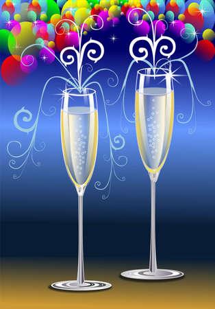 Brindis con Champagne Foto de archivo - 3459085
